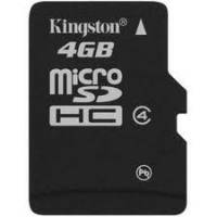 Карта памяти Kingston microSD 4GB (4 class)